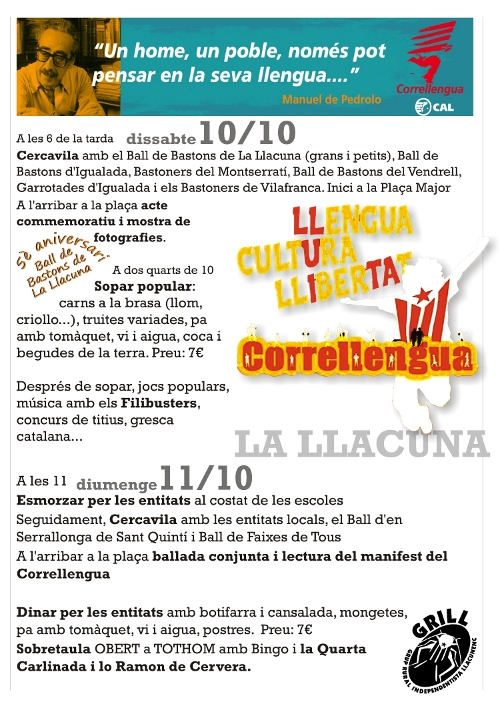 Correllengua 2009 La Llacuna