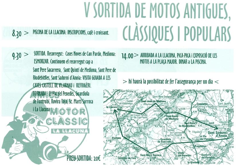 Programa Trobada motos a La Llacuna